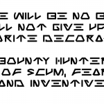 Jabba the Font sample 2