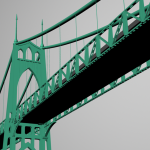 St Johns Bridge 3D Model